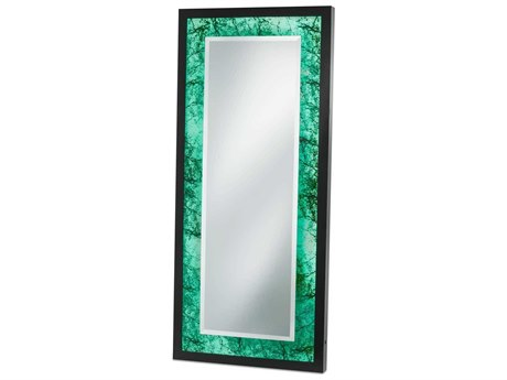 Nova Black Gloss / Alabaster And Floor Mirror