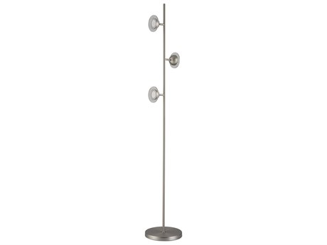 Nova Laurel Satin Nickel LED Floor Lamp