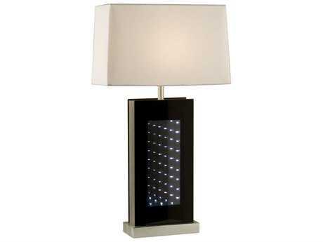 Nova Phantom Brushed Aluminum & Black Table Lamp