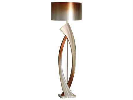 Nova Swerve Brushed Aluminum & Bronze Floor Lamp NOVJFL4810