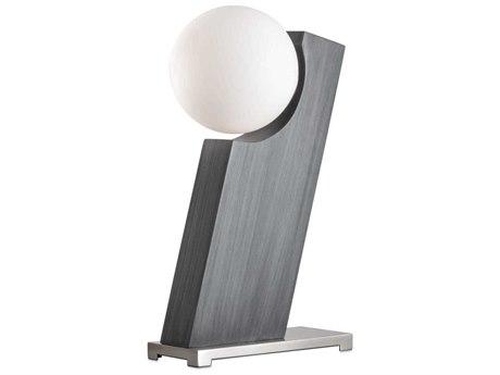 Nova Charcoal Gray / Brushed Nickel Table Lamp