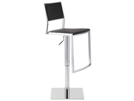 Nuevo Living Aaron White Adjustable Swivel Table / Counter / Bar Stool NUEHGBO176