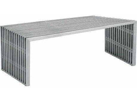 Nuevo Living Amici Silver Accent Bench