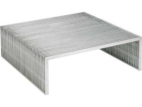 Nuevo Living Amici Silver 40'' Square Coffee Table