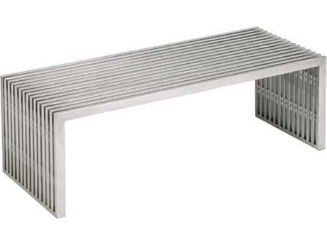 Nuevo Living Amici Silver 47.3'' x 24'' Rectangular Coffee Table