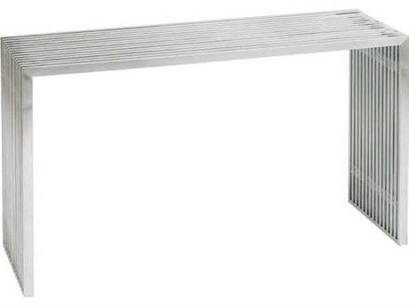 Nuevo Living Amici Silver 48'' x 16'' Rectangular Console Table