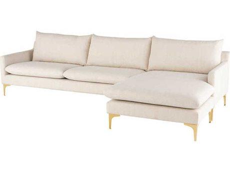Nuevo Living Anders Sectional Sofa NUEANDERSSECSOFAGLD