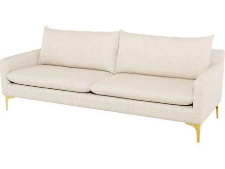 Nuevo Living Anders Gold Sofa Couch NUEANDERSSOFAGLD