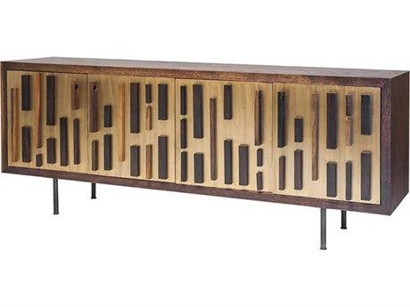 Nuevo Living Blok Four-Door 78.8'' x 18.5'' Sideboard Cabinet - Buffee