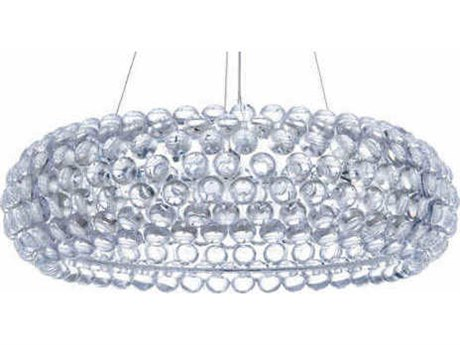 Nuevo Living Bulle Clear / Silver 24'' Wide Pendant Light