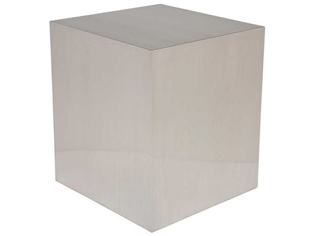 Nuevo Living Caldo Silver 19'' Square Side Table