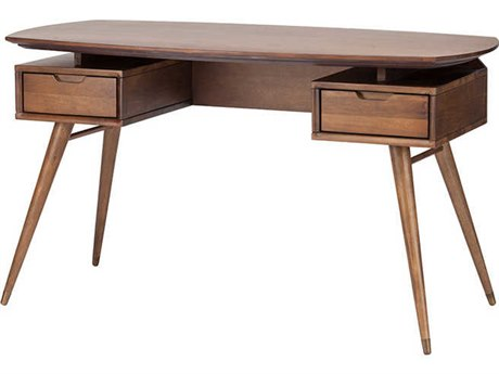 Nuevo Living Carel Brown 55.3'' x 27.3'' Oval Writing Desk NUEHGST120