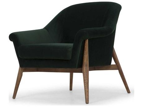 Four Hands Kensington Gray Chevron Lillian Occasional Chair Fscken49z223