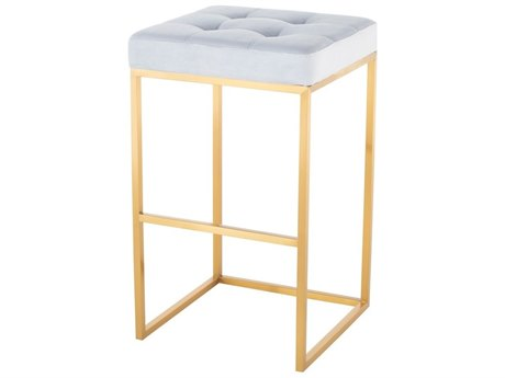 Nuevo Living Chi Gold Side Bar Height Stool