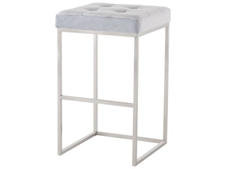 Nuevo Living Chi Silver Side Bar Height Stool