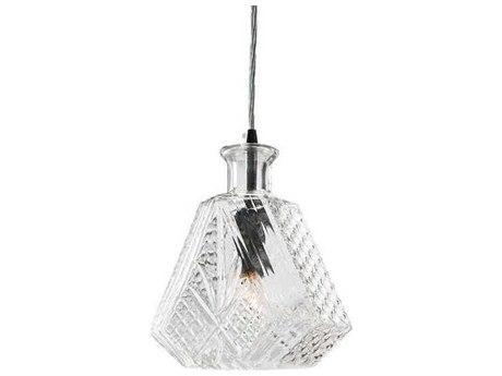 Nuevo Living Cognac Clear / Silver 7.5'' Wide Mini Pendant Light NUEHGKI204