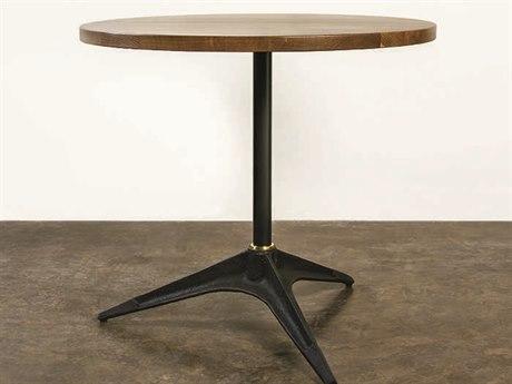Nuevo Living Compass 25.8'' Round Brown Bar Table NUEHGDA526