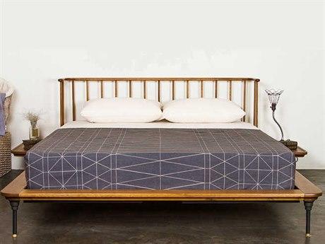 Nuevo Living Distrikt Bed Brown Queen Platform Bed