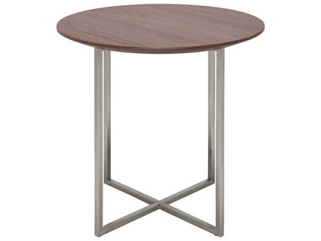 Nuevo Living Dixon Brown 21'' Round Side Table