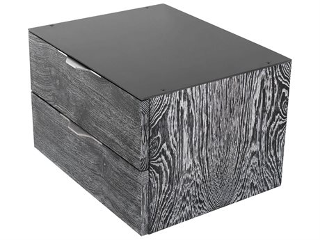 Nuevo Living Drift Black / Ceruse 19'' Wide Rectangular End Table