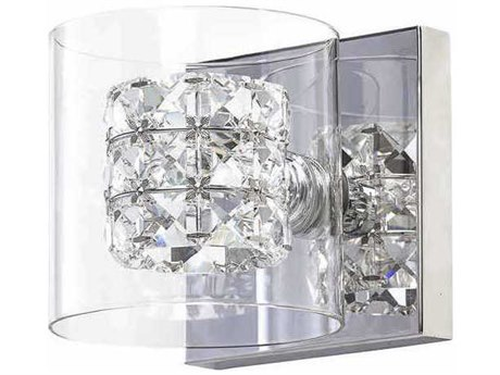 Nuevo Living Elsa Clear Crystal / Silver 5.5'' Wide Wall Sconce NUEHGHO222