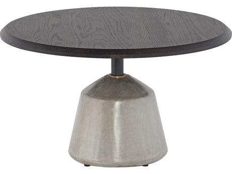 Nuevo Living Exeter Seared / Grey 27'' Wide Round Pedestal Table NUEHGDA702