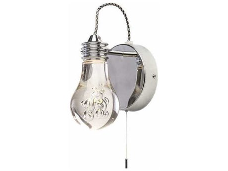 Nuevo Living Florian Clear / Silver 5.3'' Wide LED Wall Sconce