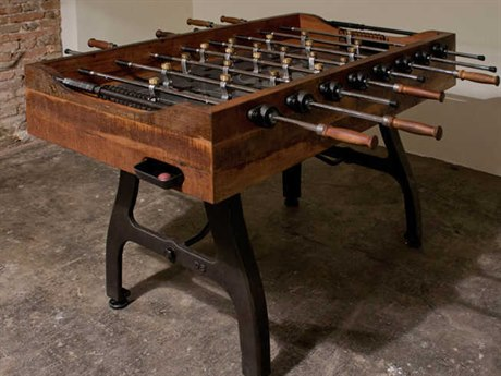 Nuevo Living Foosball 59'' Rectangular Fossball Brown Gaming Table NUEHGDA242