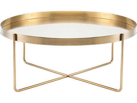 Nuevo Living Gaultier Gold 40'' Round Coffee Table