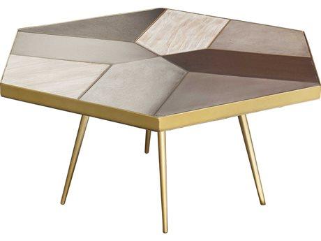 Nuevo Living Giselle Gray 34.5'' x 30'' Hexagonal Coffee Table NUEHGAK109