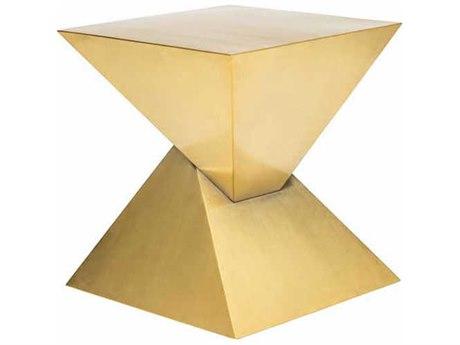 Nuevo Living Giza Steel 17.8'' Square Side Table