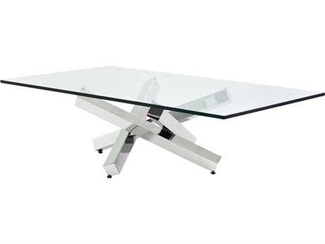 Nuevo Living Henri Clear 54'' x 30'' Rectangular Coffee Table NUEHGTB254