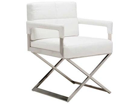 Nuevo Living Jack White Dining Arm Chair
