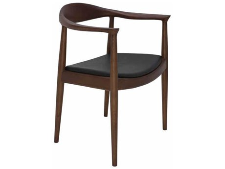 Nuevo Living Johan Black / Brown Dining Arm Chair NUEHGEM601