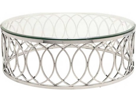 Nuevo Living Juliette Clear 41.3'' Round Coffee Table NUEHGTB237