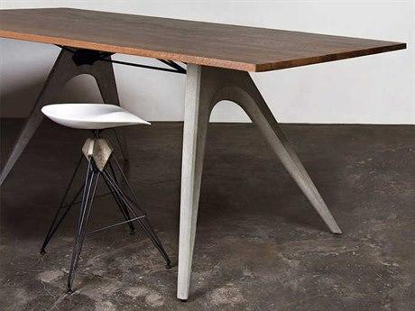 Nuevo Living Kahn 39'' Rectangular Gray Counter Table NUEHGDA501