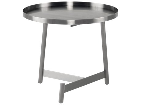 Nuevo Living Landon Graphite 23'' Wide Round End Table