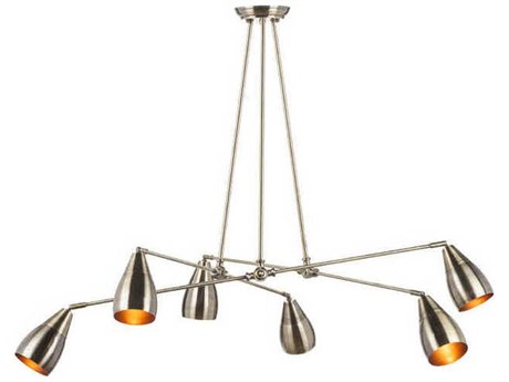Nuevo Living Lanister Six-Light 55.3'' Wide Chandelier NUELANISTERPENDANT6