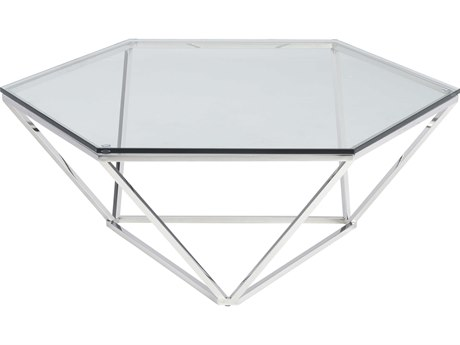 Nuevo Living Louisa 41.3'' x 35.8'' Hexagonal Coffee Table NUELOUISACOFFEETABLE