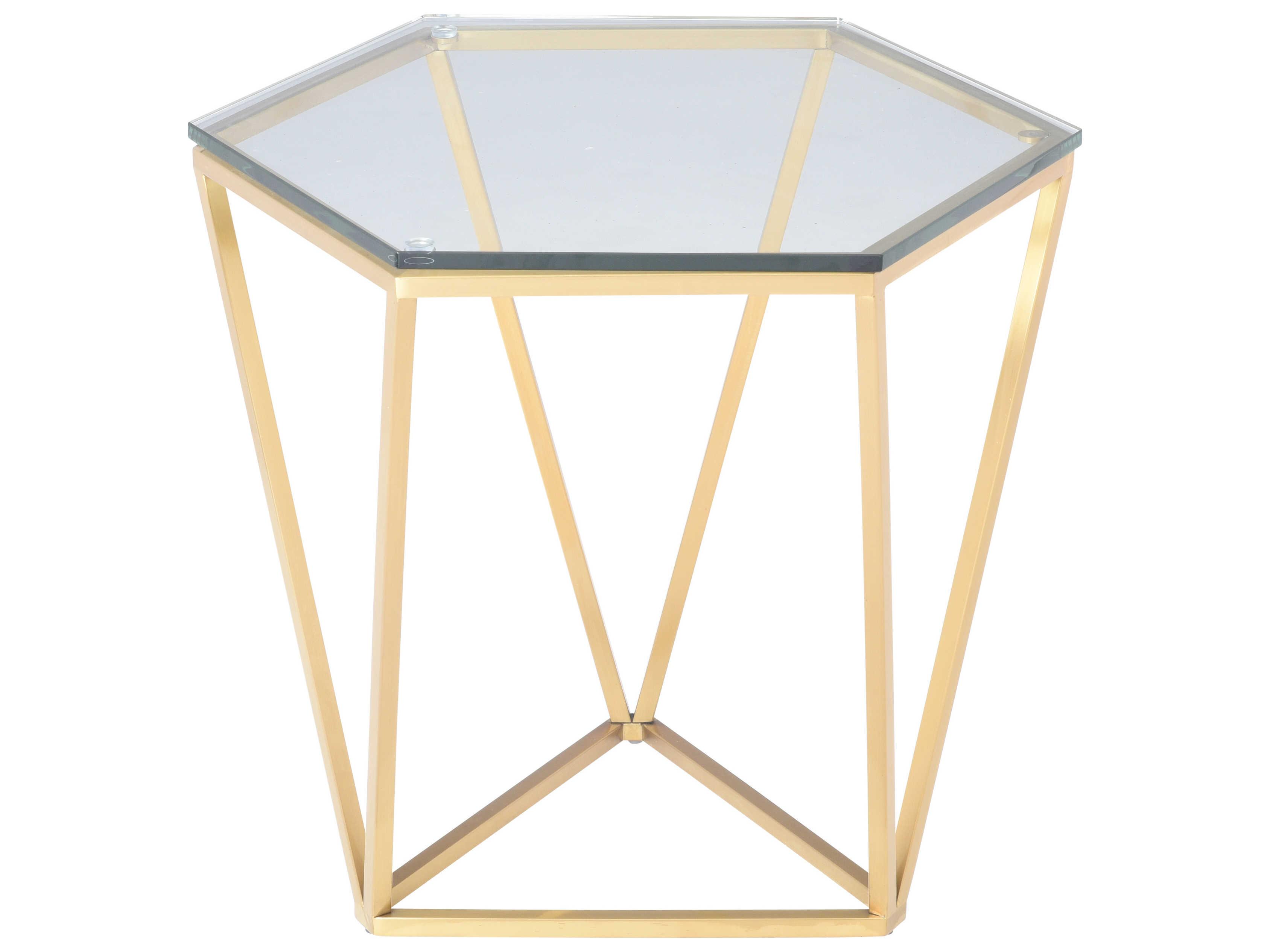 Brilliant Nuevo Living Louisa 23 5 X 20 5 Hexagonal Drum Table Andrewgaddart Wooden Chair Designs For Living Room Andrewgaddartcom