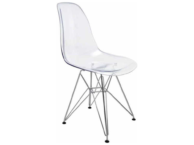 Pleasant Nuevo Living Lucent Clear Dining Side Chair Uwap Interior Chair Design Uwaporg