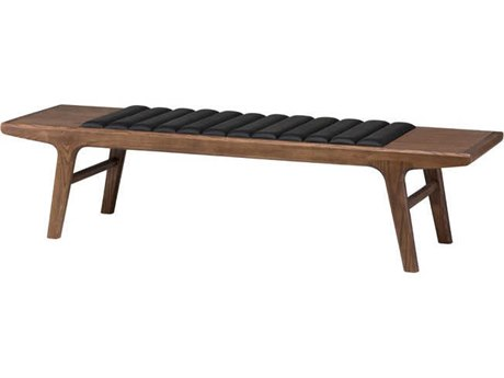 Nuevo Living Lucien Brown Accent Bench NUELUCIENOCCASIONALBENCH