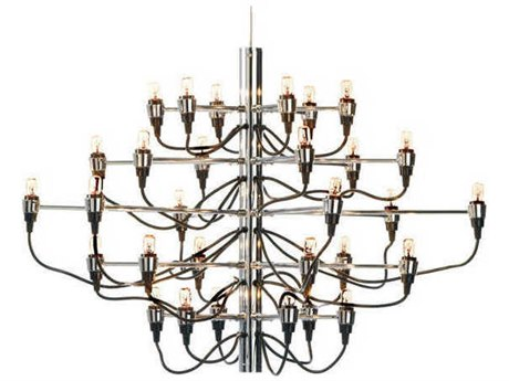 Nuevo Living Medusa Silver 30-Light 32'' Wide Mini Chandelier NUEHGML326