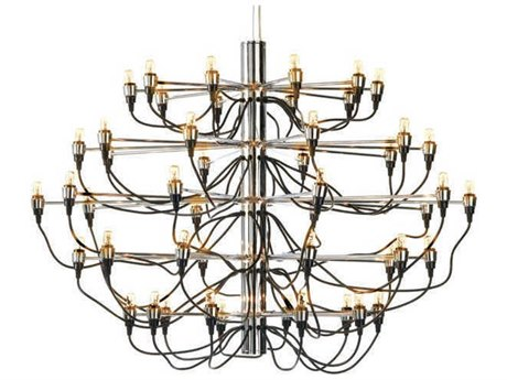 Nuevo Living Medusa Silver 50-Light 40'' Wide Chandelier NUEHGML327
