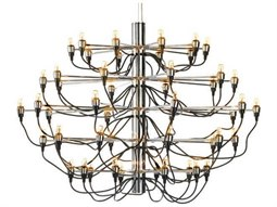 Medusa Silver 50-Light 40'' Wide Chandelier