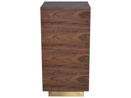 Nuevo Living Noah Brown 18'' Square Side Table