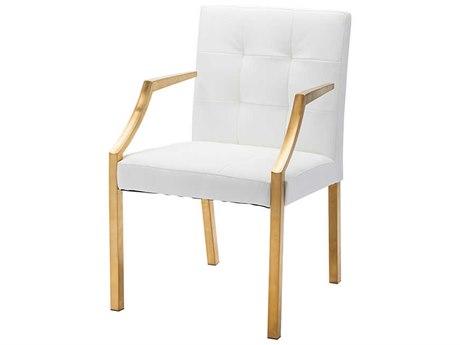 Nuevo Living Paris White Dining Arm Chair