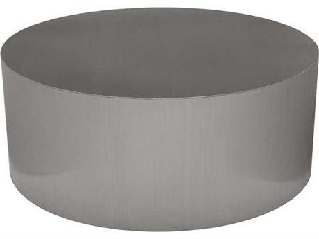 Nuevo Living Piston Silver 35.3'' Round Coffee Table NUEHGTA978