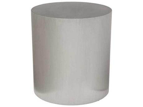 Nuevo Living Piston Silver 20'' Round Drum Table NUEHGTA979