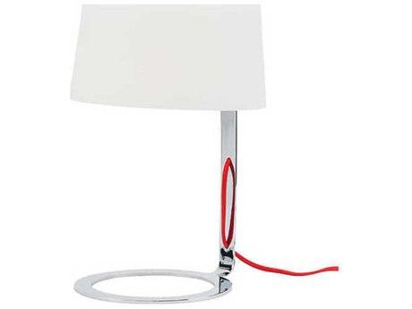 Nuevo Scarlet Chrome Table Lamp